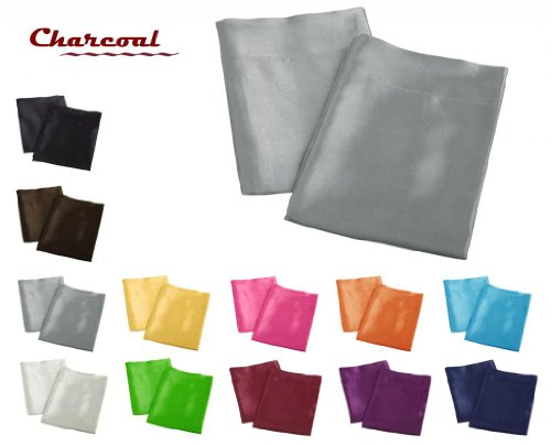 creative-2-pieces-of-colorful-shiny-satin-queen-size-pillow-case-charcoal
