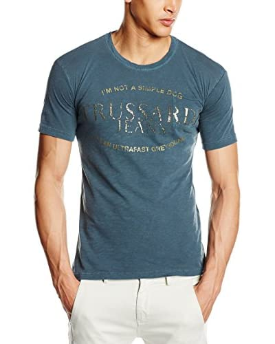 Trussardi Jeans Camiseta Manga Corta Azul Petróleo