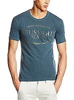 Trussardi Jeans Camiseta Manga Corta (Azul Petróleo)
