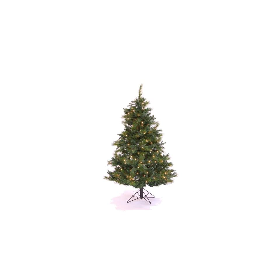4.5 Pre Lit Glacier Mixed Artificial Christmas Tree   Clear Mini Lights