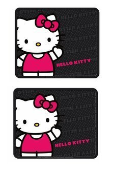 Plasticolor-Rear-Seat-Utility-Rubber-car-Truck-SUV-Floor-Mats-Hello-Kitty-Sanrio-Waving-Pair