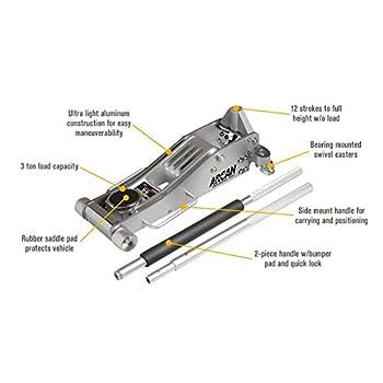 Arcan ALJ3T Aluminum Floor Jack - 3 Ton Capacity