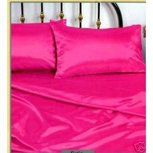 Amazon.com - Hot Pink Full Size Silky Satin Pillowcase