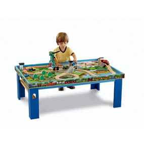 Wooden Railway Play Table