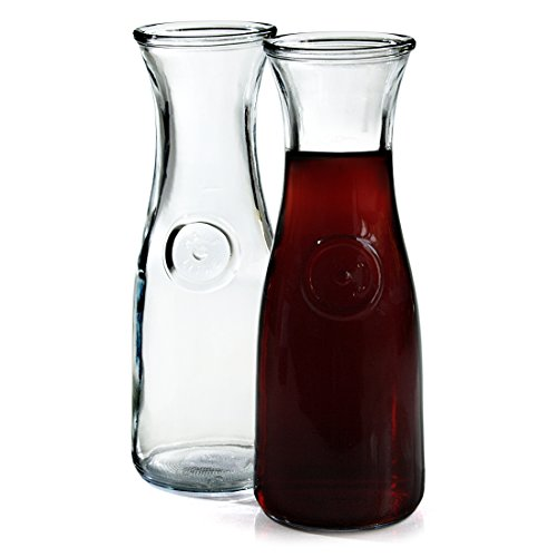 Anchor Hocking 0.5 Liter Glass Wine Carafe, Set of 2 (Wine Carafe And Glasses Set compare prices)