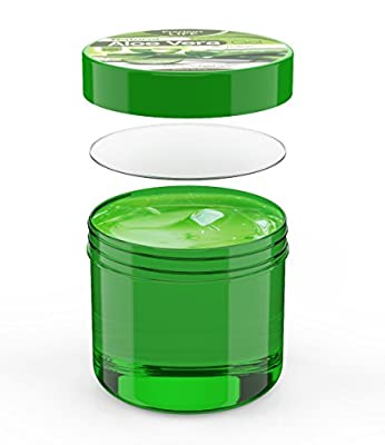 Top Aloe Vera Gel for Women & Men to help Moisturize Face and Regenerating Hands and Feet, Soothing Lotion for Sunburn. Works well for Treatment of Psoriasis, Eczema, Razor Bumps, Dry Skin, Itchy Scalp and Bug Bites. Used as a Repairing Beauty Mask.