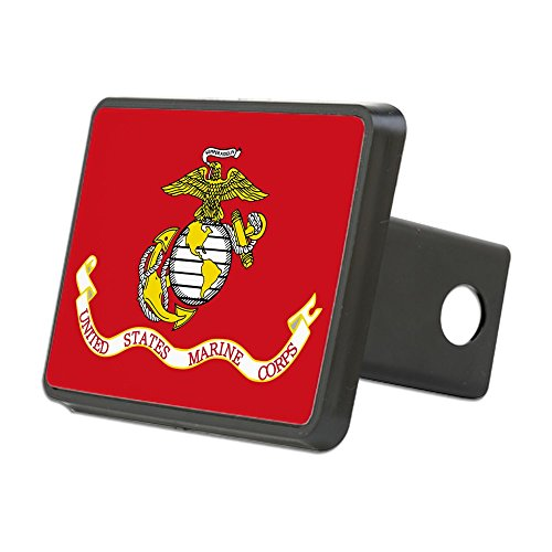 CafePress - Marine Corps Flag Hitch Cover - Trailer Hitch Cover, Truck Receiver Hitch Plug Insert (Usmc Tow Hitch Cover compare prices)