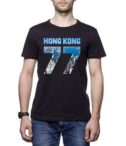 HONH KONG CITY 77 Men's Men's BEN Crew Neck CLASSIC Tshirt Nero Medium