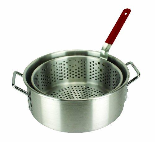 PERFORATED BASKET 30 Quart Aluminum Boiling Frying Chicken Shrimp Strainer NEW