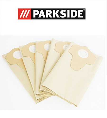 vacuum-cleaner-bags-set-of-5-30-liter-brown-coarse-dirt-parkside-lidl-pnts-1400-a1-1400b1-1400-c1-14