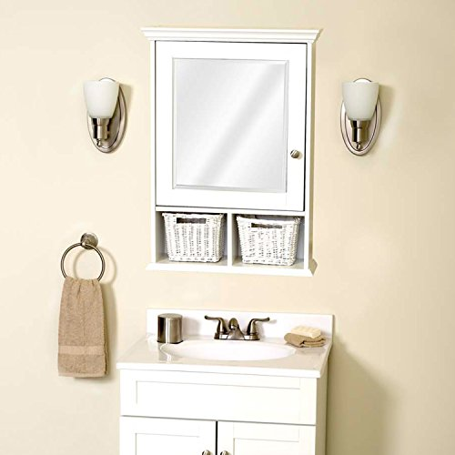 Zenith th22wwbb medicine cabinet with wicker baskets for Bathroom accessories baskets