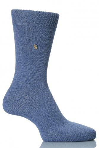 SockShop Farbexplosion Socken aus Baumwolle für Männer - 11 bis 14 Männer - Denim Blue