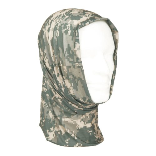 Combat Scarf Versatile Headgear Cap Headwrap Face Mask Headband ACU Digital Camo image