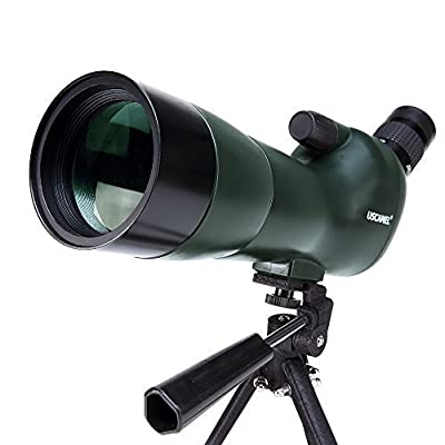 USCAMEL Bird Watching Waterproof Spotting Scope - 20-60x60 Zoom Monocular Telescope - With Handheld Tripod - with Camera Photography Adapter by USCAMEL
