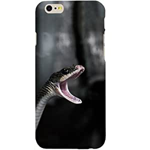 Casotec Angry Snake Design Hard Back Case Cover for Apple iPhone 6 / 6S