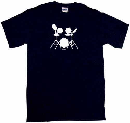 Electronic Drum Set Drummers Logo Men'S Tee Shirt 3Xl-Black