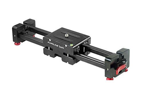 "Flyfilms Spark 13"" Video DSLR Camera Slider Extendable Double Travel Distance on Tripod Track Dolly Rail Slider | BEST Travel Slider"