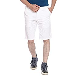 Parx White Men's Shorts (XMHY00172-W182F040)