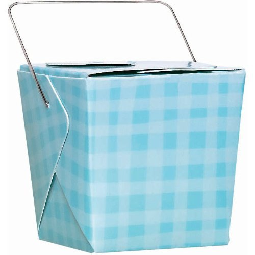 Plaid Blue Favor Pails 12ct