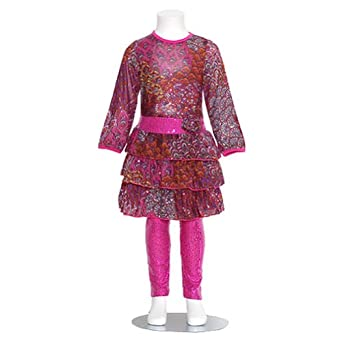 GiGi Purple Floral Girls 6M Dress Pink Sequin Leggings Fall Outfit