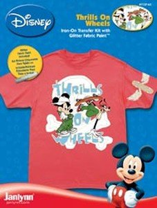 Janlynn Mickey Mouse Iron On Transfer (1 Package) - Thrills On Wheels