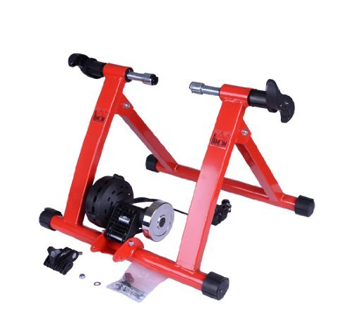 Indoor Exercise Bike Magnet Steel Bicycle Trainer Stand Stationary Sports Red