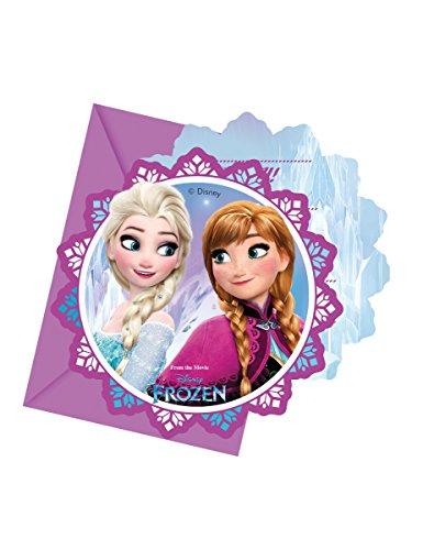 Procos 86919-Invitaciones con sobre Disney Frozen, 6unidades), multicolor