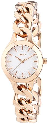 DKNY - Orologio da polso, analogico al quarzo, rivestito in acciaio inox