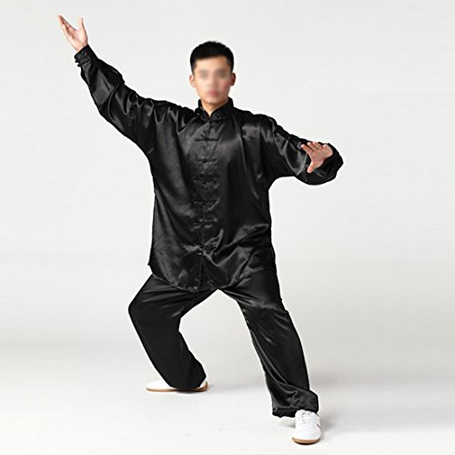 Andux Chinese Traditional Tai Chi Uniforms Kung Fu Clothing Unisex SS-TJF01 Black