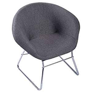 Giantex Modern Gray Accent Chair Leisure Arm Sofa Lounge Living Room Home Furniture