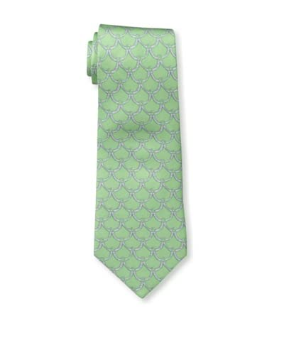J.McLaughlin Men's Country Swag Print Tie, Lime/Grey