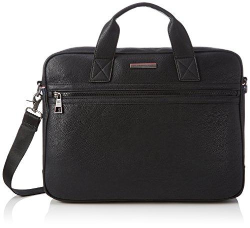 Tommy Hilfiger Essential Computer, Borsa con Maniglia Uomo, Nero (Black 002 002), 40x30x9 cm (B x H x T)