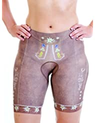 Ladies Cycling Shorts Traditional Lederhosen Look Italian Cut in Brown - Please Note Measurements