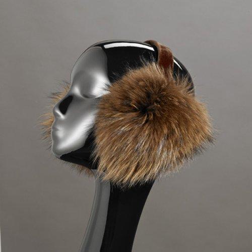 Brown Tanuki Fur Earmuffs