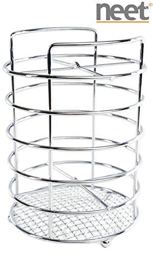 Neet® Chrome Plated Cooking Utensil Holder Organizer Caddy IUH-306