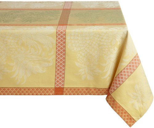 Tommy Bahama Pineapple Jacquard Square Tablecloth 70 By