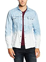 Mavi Camisa Hombre (Azul / Blanco)