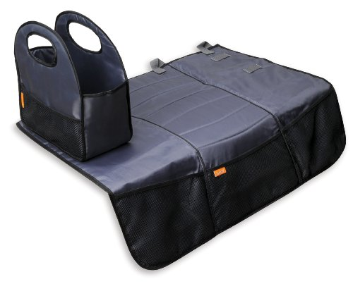 Brica Back Seat Storage with Seat Protector, Gray (Discontinued by Manufacturer)
