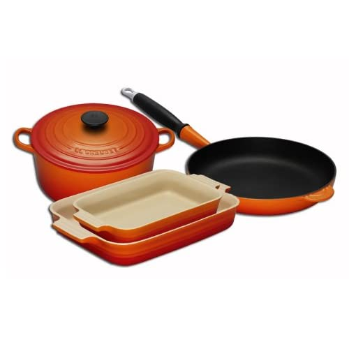 Le Creuset Cast Iron and Stoneware Gift Set, 4 Piece,