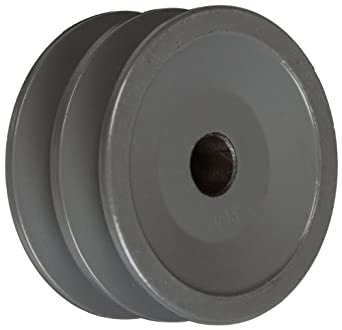 "TB Woods 2AK2712 FHP Bored-To-Size, 2.75"" Outside Body Diameter, 0.5"" Bore Diameter V-Belt Sheave"