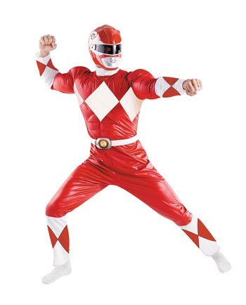 Costumes For All Occasions DG50089 Power Ranger Red Adult