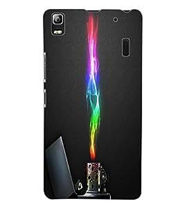 ColourCraft Colour Flaming Lighter Design Back Case Cover for LENOVO K3 NOTE