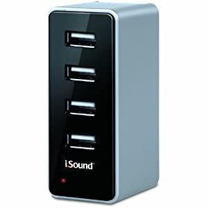 i.Sound 4 USB Wall Charger Pro for iPad, iPhone, iPod, and any USB powered device