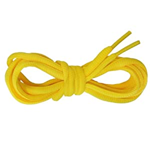Suddora Multi Color Shoelaces - Pair of Tubed Shoe Laces (Yellow)