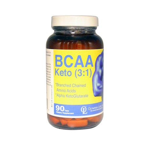 Olympian Labs Inc., Bcaa, Keto (3:1), 90 Tablets