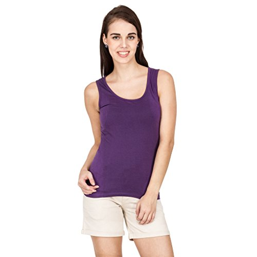 Amari West Womens Solid Top(Purple_S_AWTO000225E0S)