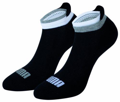 Puma-2-paires-de-Chaussettes-de-sport-Uni-Femme