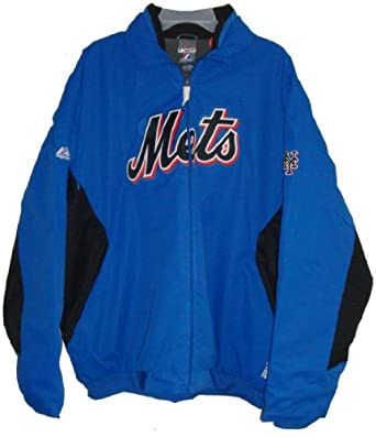 Majestic Athletic Mens Mets (The MLB Authenic Collection) Jacket, Size XXL, Blue by Majestic