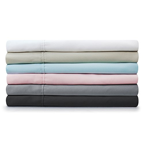 Brushed Microfiber Bed Sheet Set By Malouf King Sand front-1001608