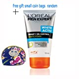 L'oreal Men Expert White Activ Brigh + Oil Control White Foam Purifying Action: 100ml